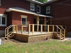 New Cedar Covered Deck
