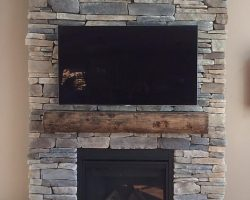 Wood Beam Mantle