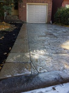 Complete Driveway and Step Landing
