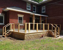 New Cedar Covered Deck