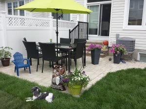 New Steps to New Patio